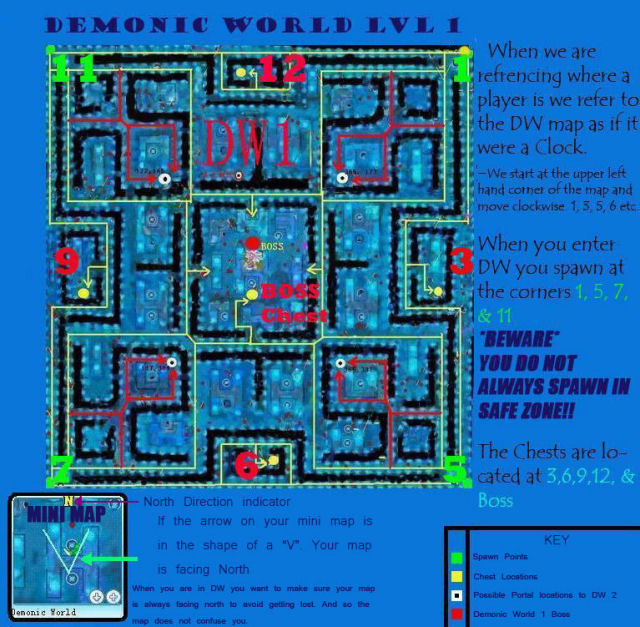 [Guia] Mapa Demonic World DW1map